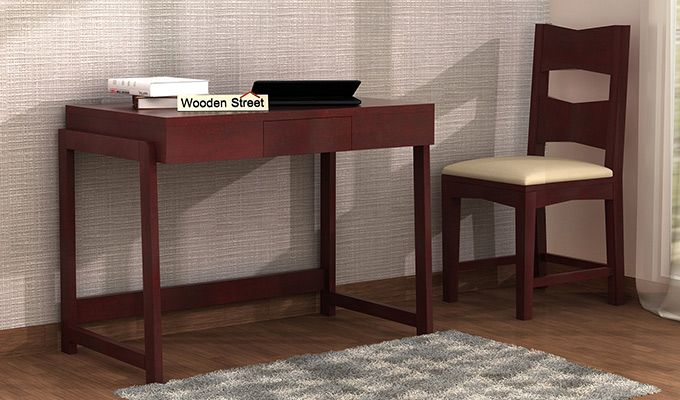 Stamper Wooden Desk (Mahogany Finish)-1