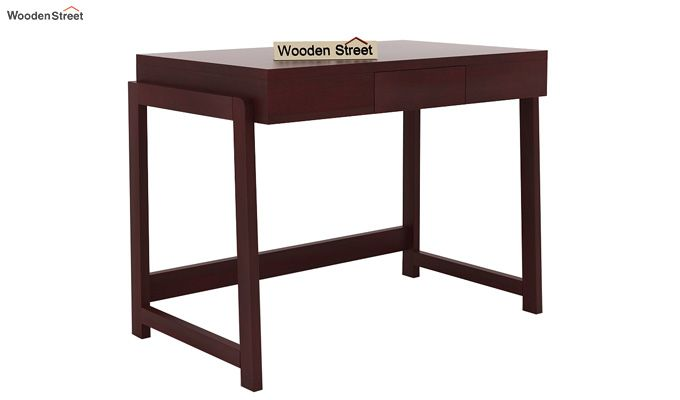 Stamper Wooden Desk (Mahogany Finish)-4