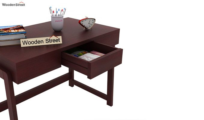 Stamper Wooden Desk (Mahogany Finish)-5