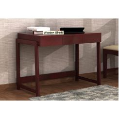 Stamper Wooden Desk (Mahogany Finish)