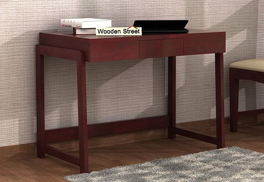 Stamper Wooden Desk (Mahogany Finish)