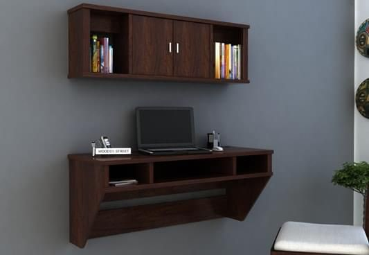 Study table online wooden foldable study table in india for Study room wall cabinets