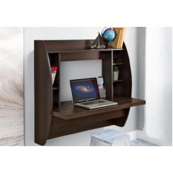 Blair Wall Mounted Study Desk (Walnut Finish)