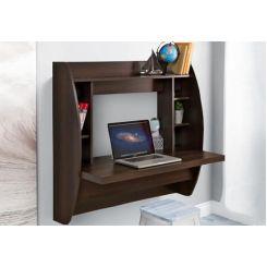 Blair Wall Mounted Study Desk (Walnut Finish)