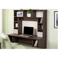 Gordon Wall Mounted Study Table (Mahogany Finish)