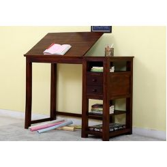 Graham Study Cum Drafting Table (Honey Finish)