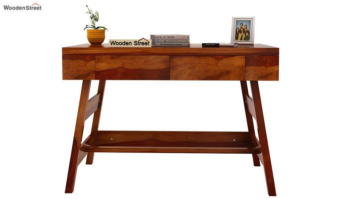 Thomas Study Table With Drawer (Honey Finish)-3