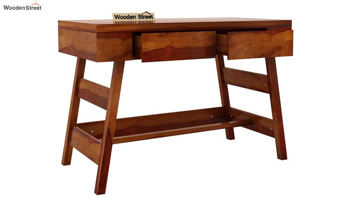 Thomas Study Table With Drawer (Honey Finish)-4