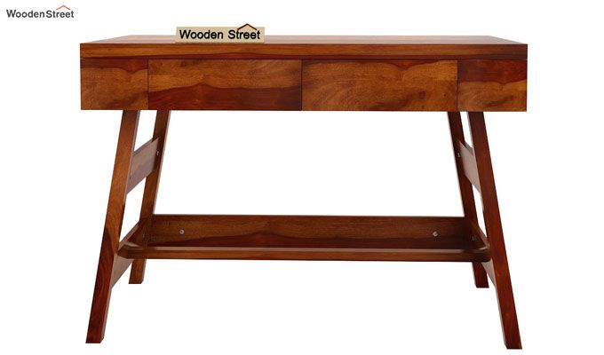 Thomas Study Table With Drawer (Honey Finish)-6