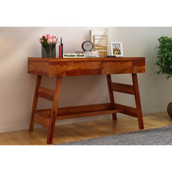 Thomas Study Table With Drawer (Honey Finish)