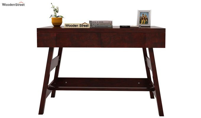 Thomas Study Table With Drawer (Mahogany Finish)-2