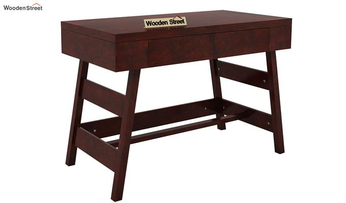Thomas Study Table With Drawer (Mahogany Finish)-4