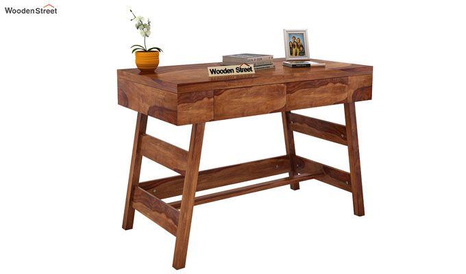 Thomas Study Table With Drawer (Teak Finish)-1