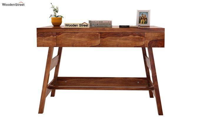 Thomas Study Table With Drawer (Teak Finish)-2