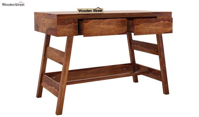 Thomas Study Table With Drawer (Teak Finish)-3