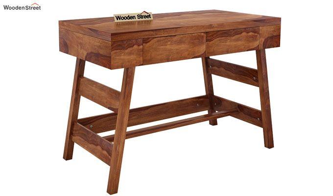 Thomas Study Table With Drawer (Teak Finish)-4