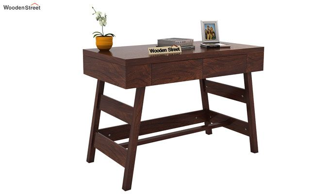 Thomas Study Table With Drawer (Walnut Finish)-1