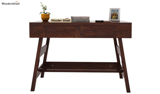 Thomas Study Table With Drawer (Walnut Finish)-2