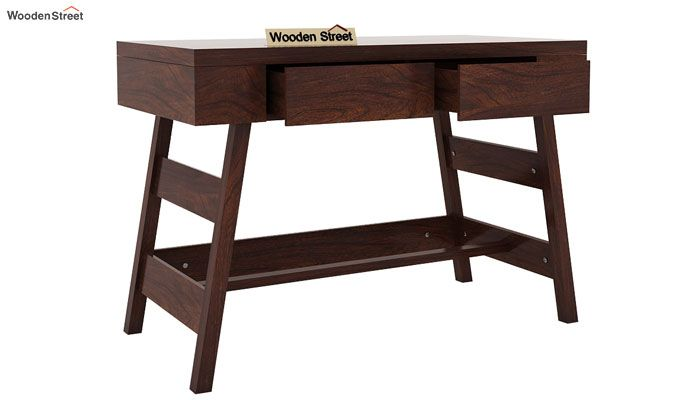 Thomas Study Table With Drawer (Walnut Finish)-3