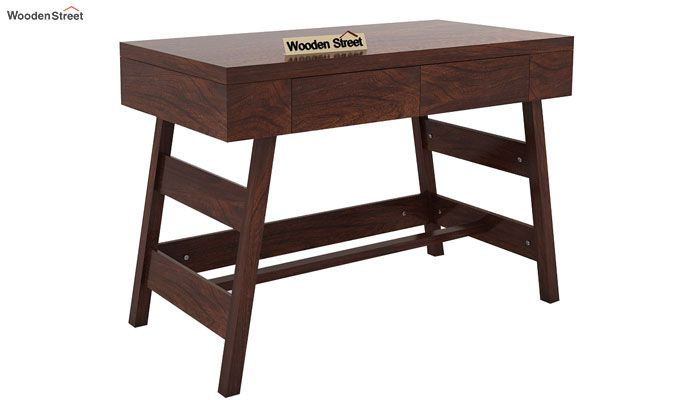 Thomas Study Table With Drawer (Walnut Finish)-4