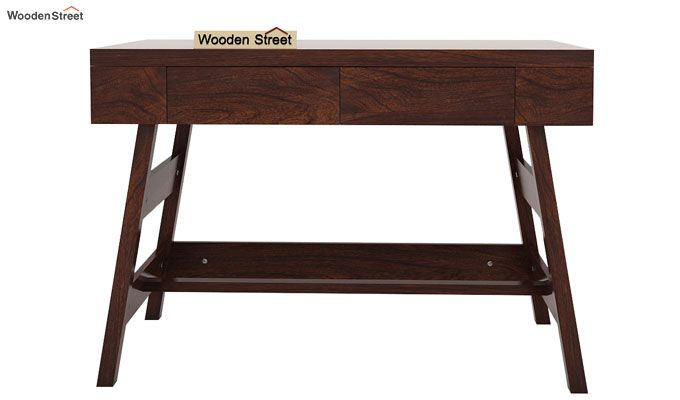 Thomas Study Table With Drawer (Walnut Finish)-5