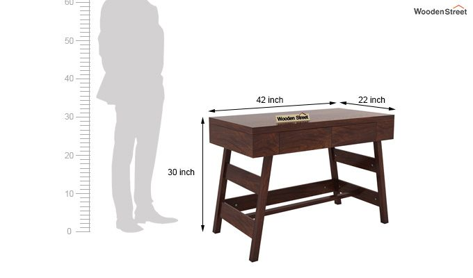 Thomas Study Table With Drawer (Walnut Finish)-7