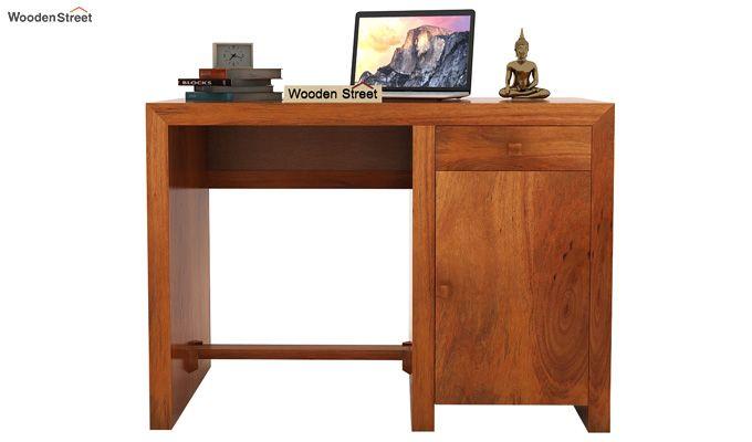 Tiffany Solid Wooden Study Table (Honey Finish)-2