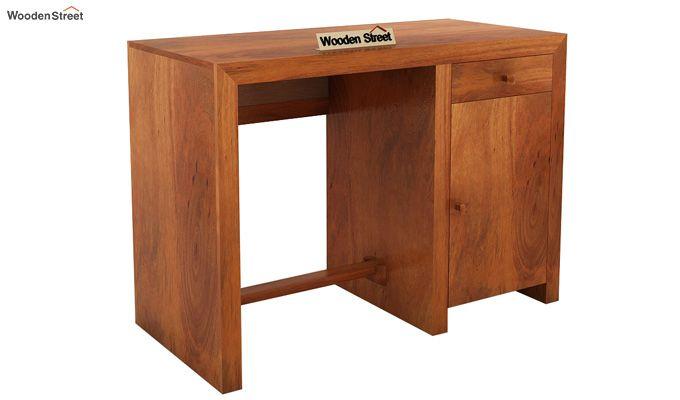 Tiffany Solid Wooden Study Table (Honey Finish)-3