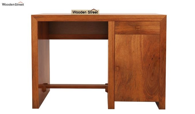Tiffany Solid Wooden Study Table (Honey Finish)-4