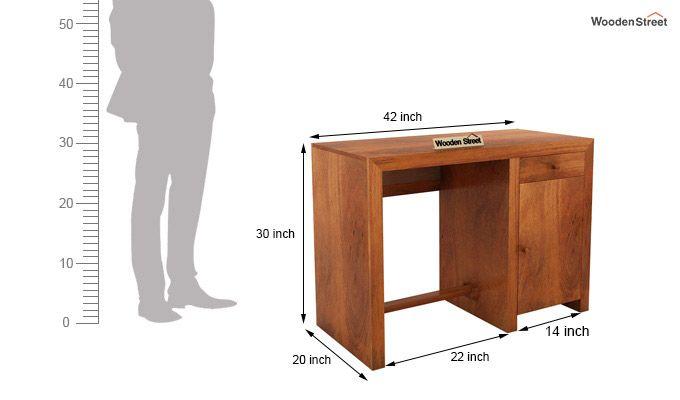 Tiffany Solid Wooden Study Table (Honey Finish)-8