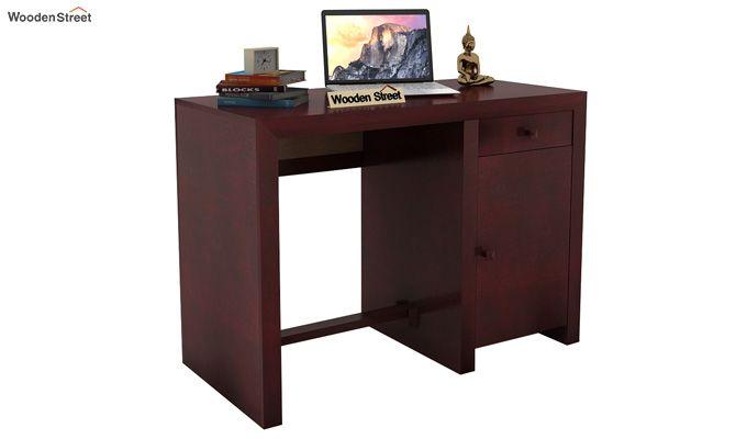 Tiffany Solid Wooden Study Table (Mahogany Finish)-1