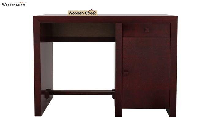 Tiffany Solid Wooden Study Table (Mahogany Finish)-4