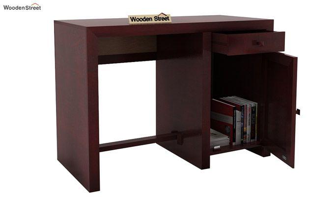 Tiffany Solid Wooden Study Table (Mahogany Finish)-5