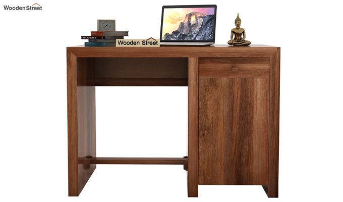 Tiffany Solid Wooden Study Table (Teak Finish)-3
