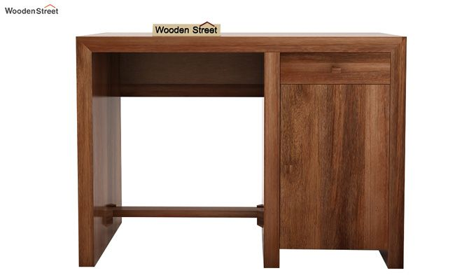 Tiffany Solid Wooden Study Table (Teak Finish)-5