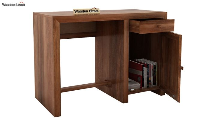 Tiffany Solid Wooden Study Table (Teak Finish)-6