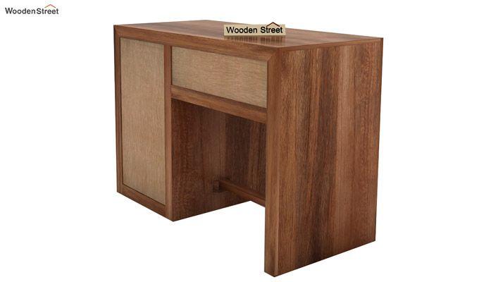 Tiffany Solid Wooden Study Table (Teak Finish)-8