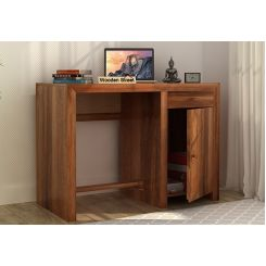 Tiffany Solid Wooden Study Table (Teak Finish)