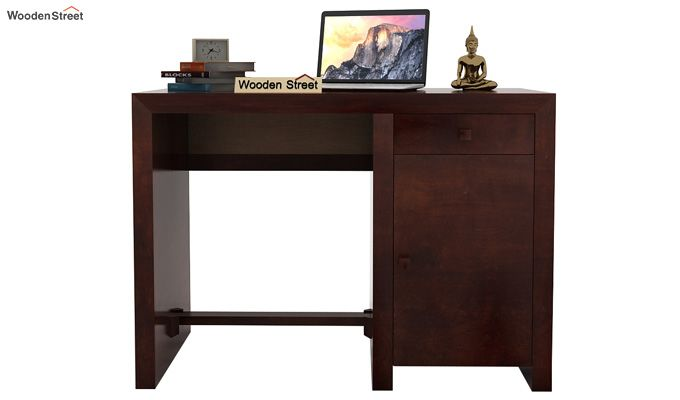 Tiffany Solid Wooden Study Table (Walnut Finish)-2