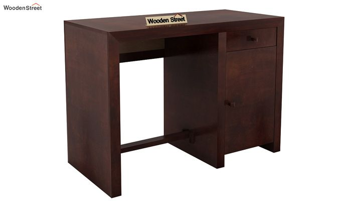 Tiffany Solid Wooden Study Table (Walnut Finish)-3