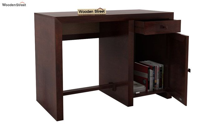 Tiffany Solid Wooden Study Table (Walnut Finish)-5