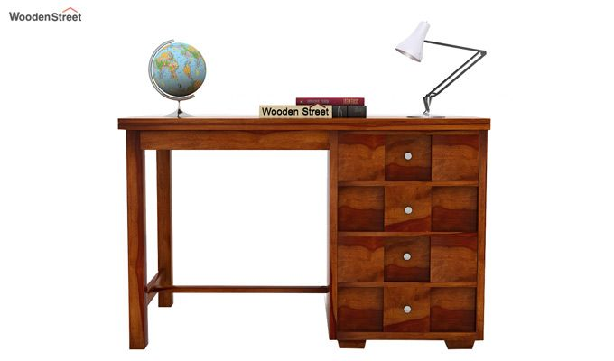 Travis Study Table (Honey Finish)-3
