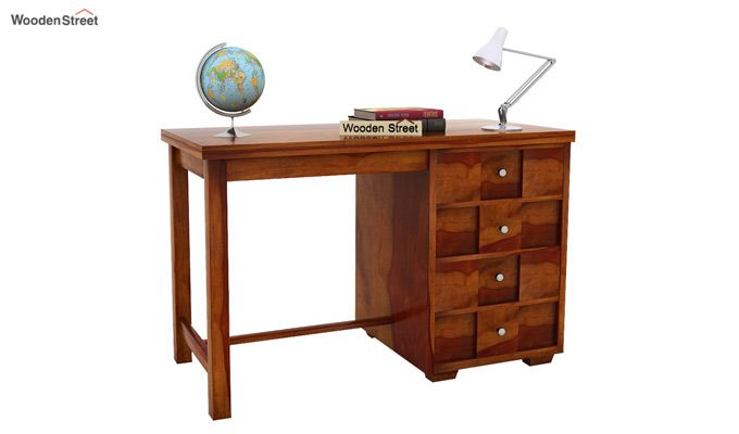 Travis Study Table (Honey Finish)-2