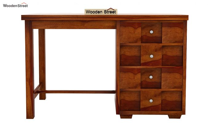Travis Study Table (Honey Finish)-4