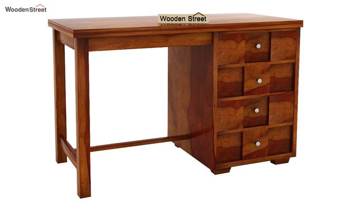 Travis Study Table (Honey Finish)-5