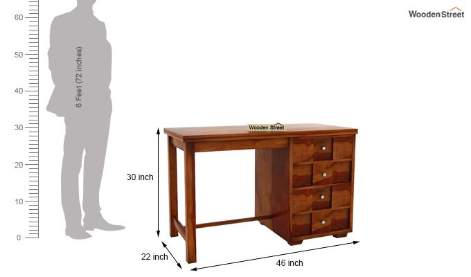 Travis Study Table (Honey Finish)-7