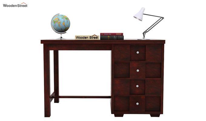 Travis Study Table (Mahogany Finish)-2