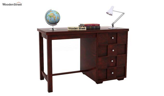 Travis Study Table (Mahogany Finish)-1