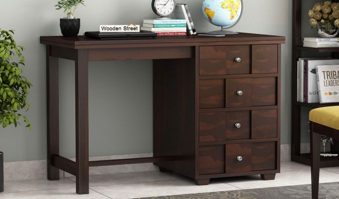 Travis Study Table (Walnut Finish)-1