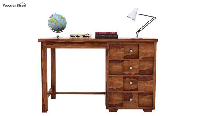Travis Study Table (Teak Finish)-2